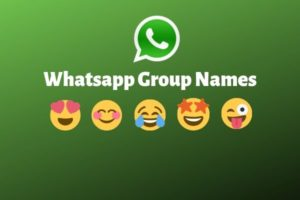 Group Names for Whatsapp